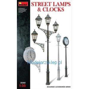 MiniArt 35560 - Street Lamps & Clock