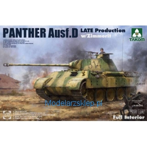 Takom 2104 - Panther Ausf. D Late Production w/ Zimmerit Full Interior Kit
